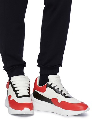 Figure View - Click To Enlarge - Alexander McQueen - Oversized outsole colourblock patchwork leather sneakers