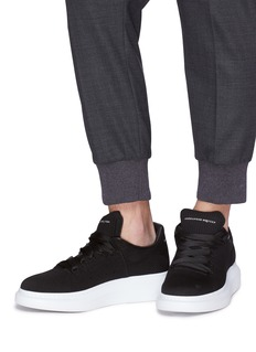 Alexander McQueen 'Larry' chunky outsole knit sneakers