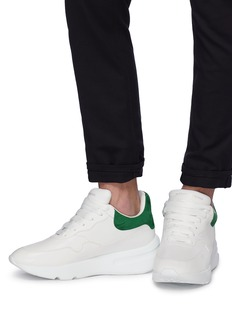 Alexander McQueen Oversized outsole patchwork leather sneakers