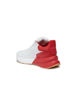 Detail View - Click To Enlarge - Alexander McQueen - 'Larry' oversized outsole leather patchwork sneakers