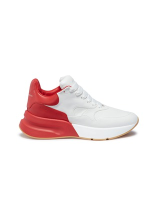 Main View - Click To Enlarge - Alexander McQueen - 'Larry' oversized outsole leather patchwork sneakers