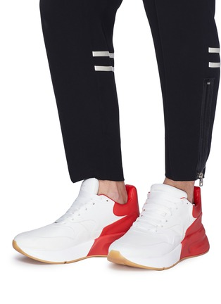 Figure View - Click To Enlarge - Alexander McQueen - 'Larry' oversized outsole leather patchwork sneakers