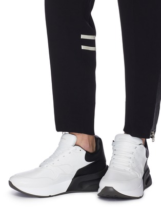 a2fd8f2bd93 Figure View - Click To Enlarge - Alexander McQueen - oversized outsole  leather patchwork sneakers