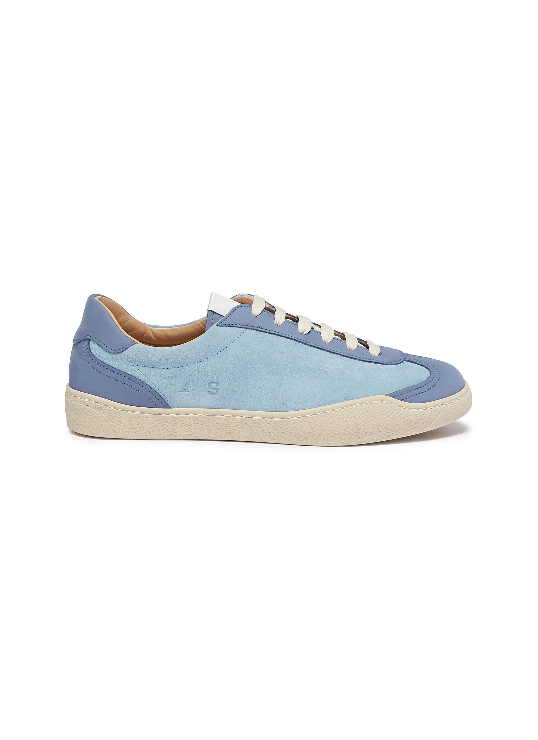Lars leather and suede sneakers by Acne Studios