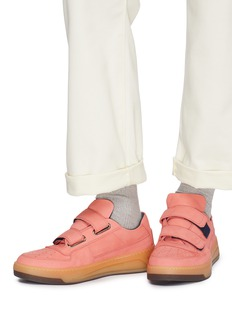 Acne Studios 'Perey' face patch strap leather sneakers