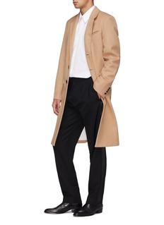 Helmut Lang Single breasted melton coat