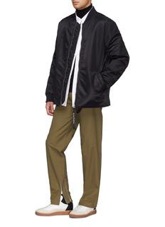 Helmut Lang Contrast seam wool turtleneck sweater