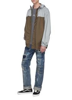 NOVE Rip-and-repair straight leg jeans