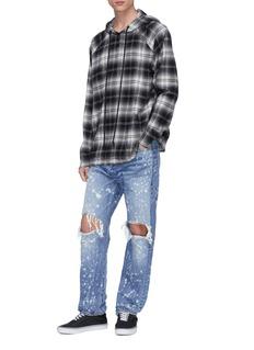 NOVE Paint splatter ripped jeans