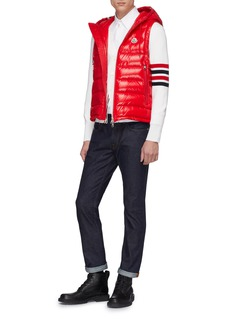 Moncler Stripe hooded down puffer vest
