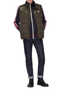 Moncler Logo print stripe sleeve track jacket
