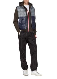 Moncler Stripe zip placket hoodie