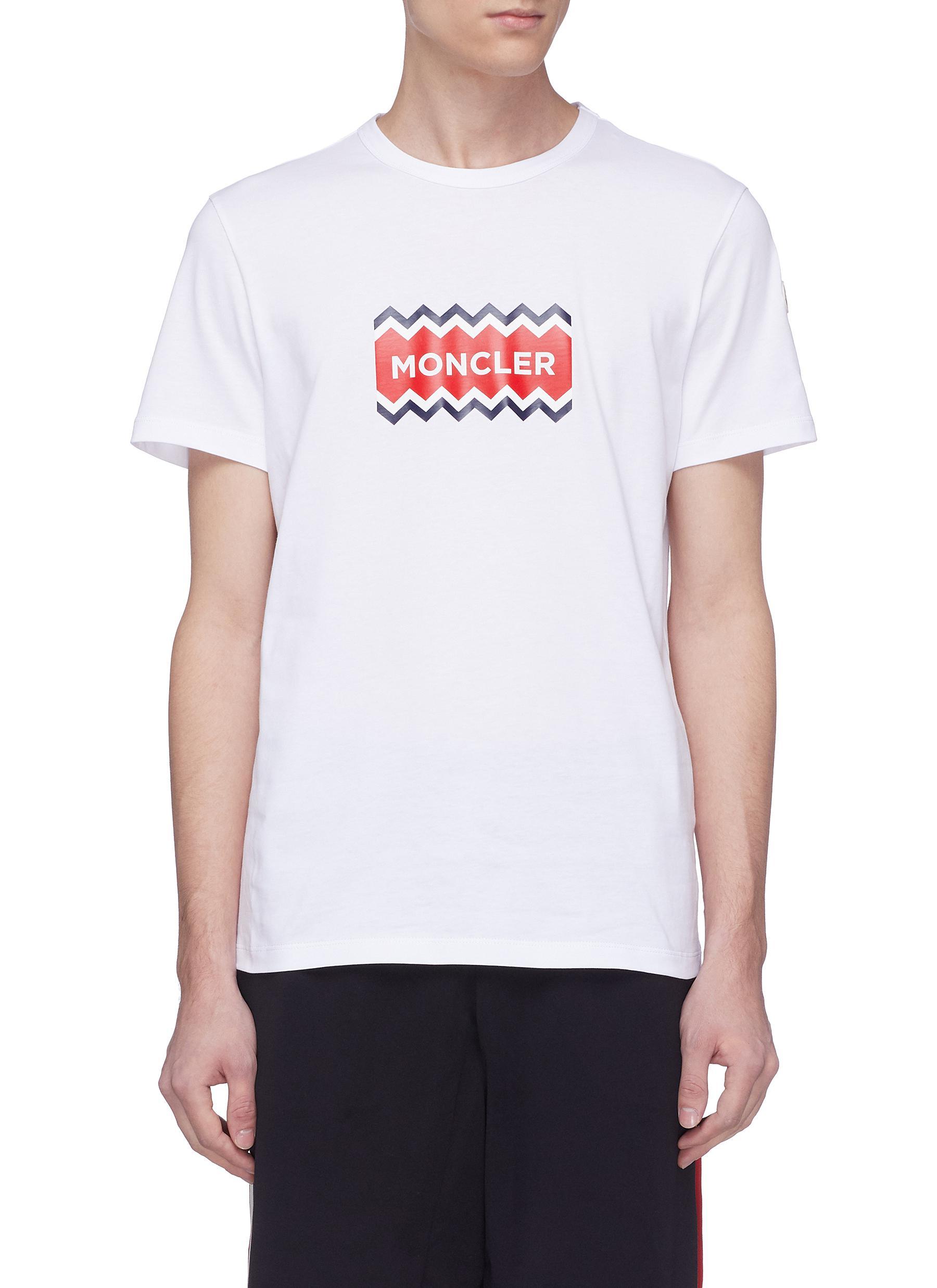 d545aef24 Main View - Click To Enlarge - MONCLER - Logo print T-shirt