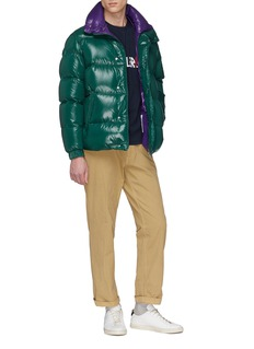 Moncler Logo patch down puffer jacket