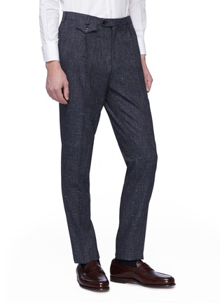 Front View - Click To Enlarge - Tomorrowland - Pleated textured herringbone pants