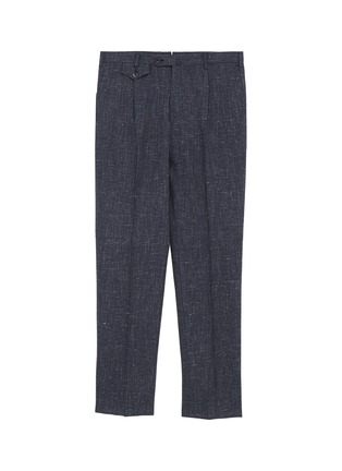 Main View - Click To Enlarge - TOMORROWLAND - Pleated textured herringbone pants