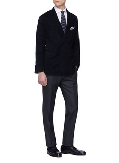 Tomorrowland Brushed silk hopsack soft blazer