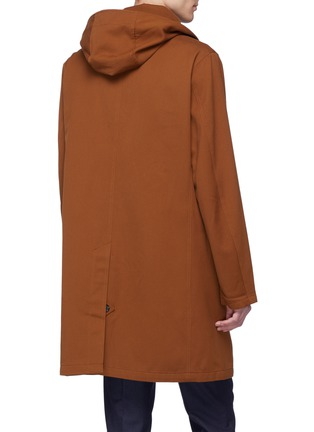 Back View - Click To Enlarge - Tomorrowland - Detachable hood cotton-wool twill coat
