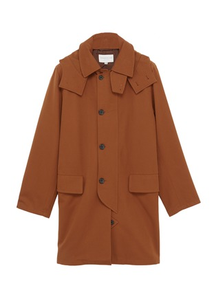 Main View - Click To Enlarge - Tomorrowland - Detachable hood cotton-wool twill coat