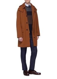Tomorrowland Detachable hood cotton-wool twill coat