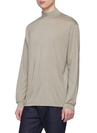 Front View - Click To Enlarge - Tomorrowland - Mock neck wool long sleeve T-shirt