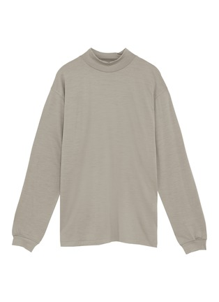 Main View - Click To Enlarge - Tomorrowland - Mock neck wool long sleeve T-shirt