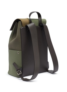 Loewe 'Puzzle' colourblock leather panel canvas backpack