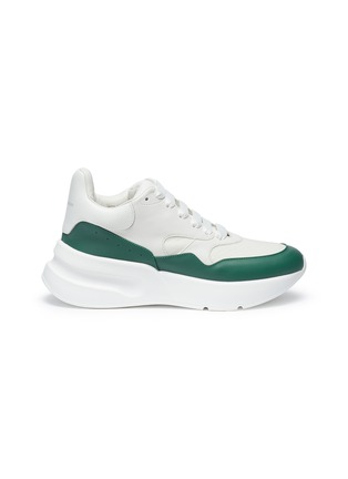 Main View - Click To Enlarge - Alexander McQueen - Oversized outsole colourblock leather sneakers