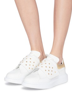 Alexander McQueen 'Larry' chunky outsole stud strap leather sneakers