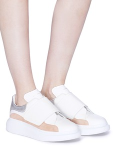 Alexander McQueen 'Larry' chunky outsole colourblock leather strap sneakers