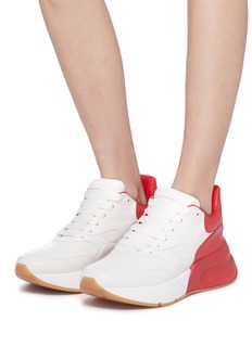Alexander McQueen Oversized outsole colourblock leather sneakers