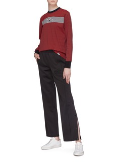 Proenza Schouler PSWL button outseam graphic embroidered track pants