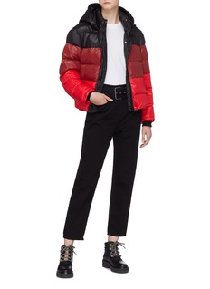 Proenza Schouler PSWL colourblock hooded puffer jacket