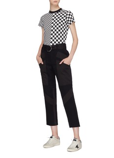 Proenza Schouler PSWL checkerboard panelled baby T-shirt