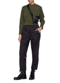 Proenza Schouler PSWL canvas patch cropped rib knit sweater