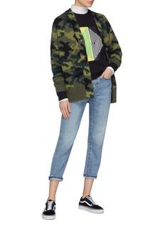Proenza Schouler PSWL graphic print shrunken raglan sweatshirt