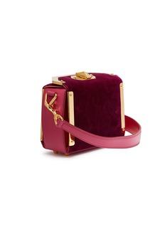 Alexander McQueen 'Box Bag 16' in velvet and leather