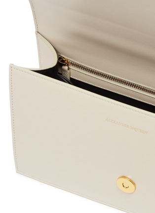 Detail View - Click To Enlarge - Alexander McQueen - 'The Jewelled Satchel' in leather with Swarovski crystal knuckle