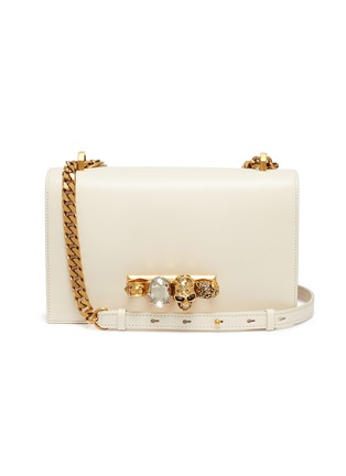 Main View - Click To Enlarge - Alexander McQueen - 'The Jewelled Satchel' in leather with Swarovski crystal knuckle