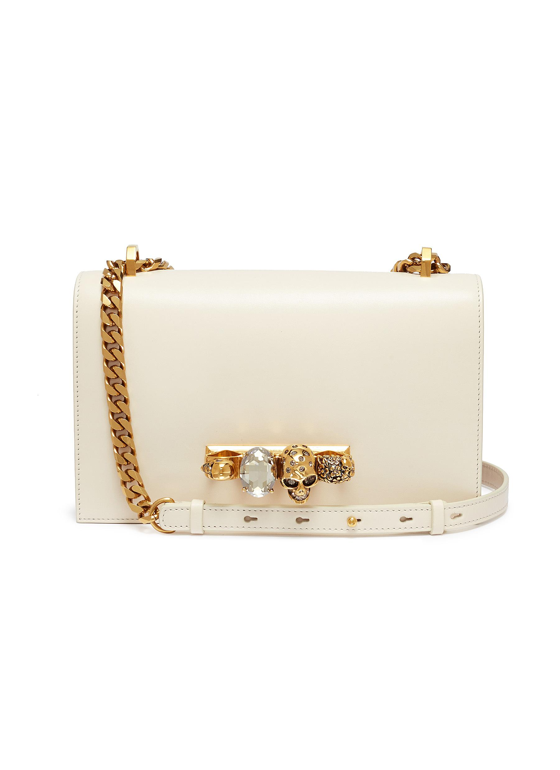 82326e72a0a1 ALEXANDER MCQUEEN | 'The Jewelled Satchel' in leather with Swarovski ...