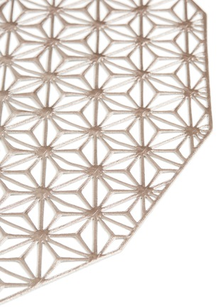 Detail View - Click To Enlarge - CHILEWICH - Kaleidoscope placemat – Gunmetal