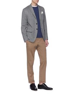 Eidos Wool blend herringbone soft blazer