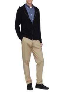 Eidos Cashmere knit zip hoodie