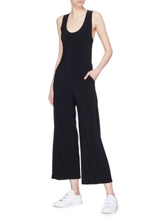 Norma Kamali Cross back wide leg jumpsuit
