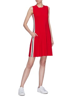 Norma Kamali Stripe outseam sleeveless jersey dress
