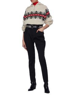 Isabel Marant 'Raynor' mix pocket wool pants