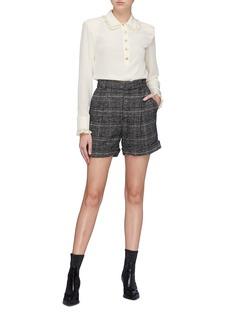 Philosophy di Lorenzo Serafini Tartan plaid virgin wool blend shorts