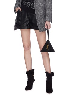 SAINT LAURENT 'Pyramid' leather clutch