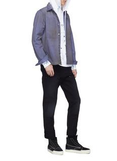 Vyner Articles Patch pocket denim worker shirt