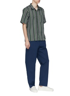 Noon Goons 'Pharcyde' stripe twill short sleeve shirt